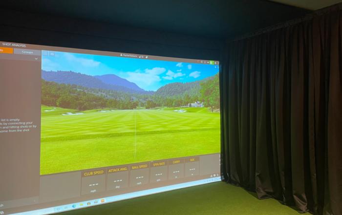 garage golf simulator