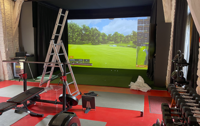 Bespoke Trackman golf simulator